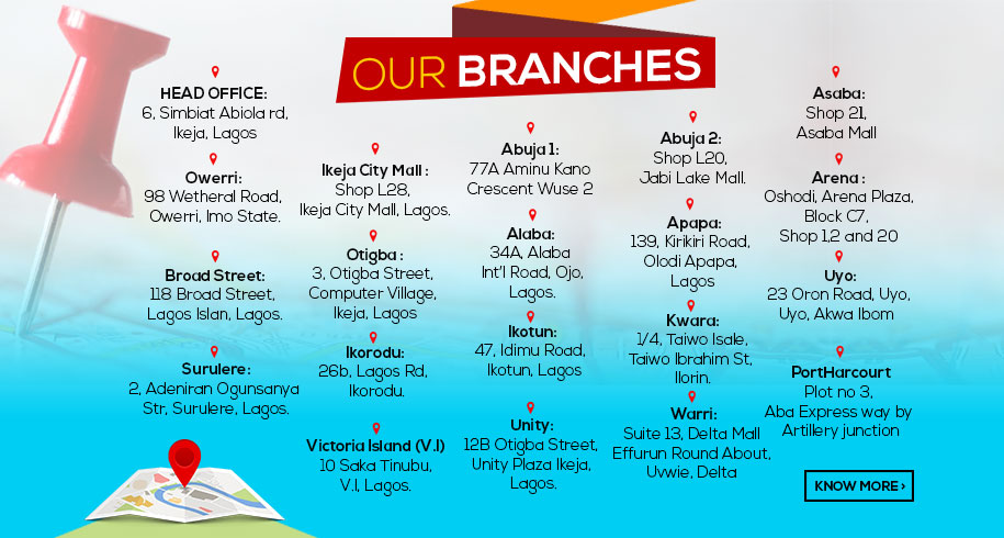 Visit Our stores Nationwide