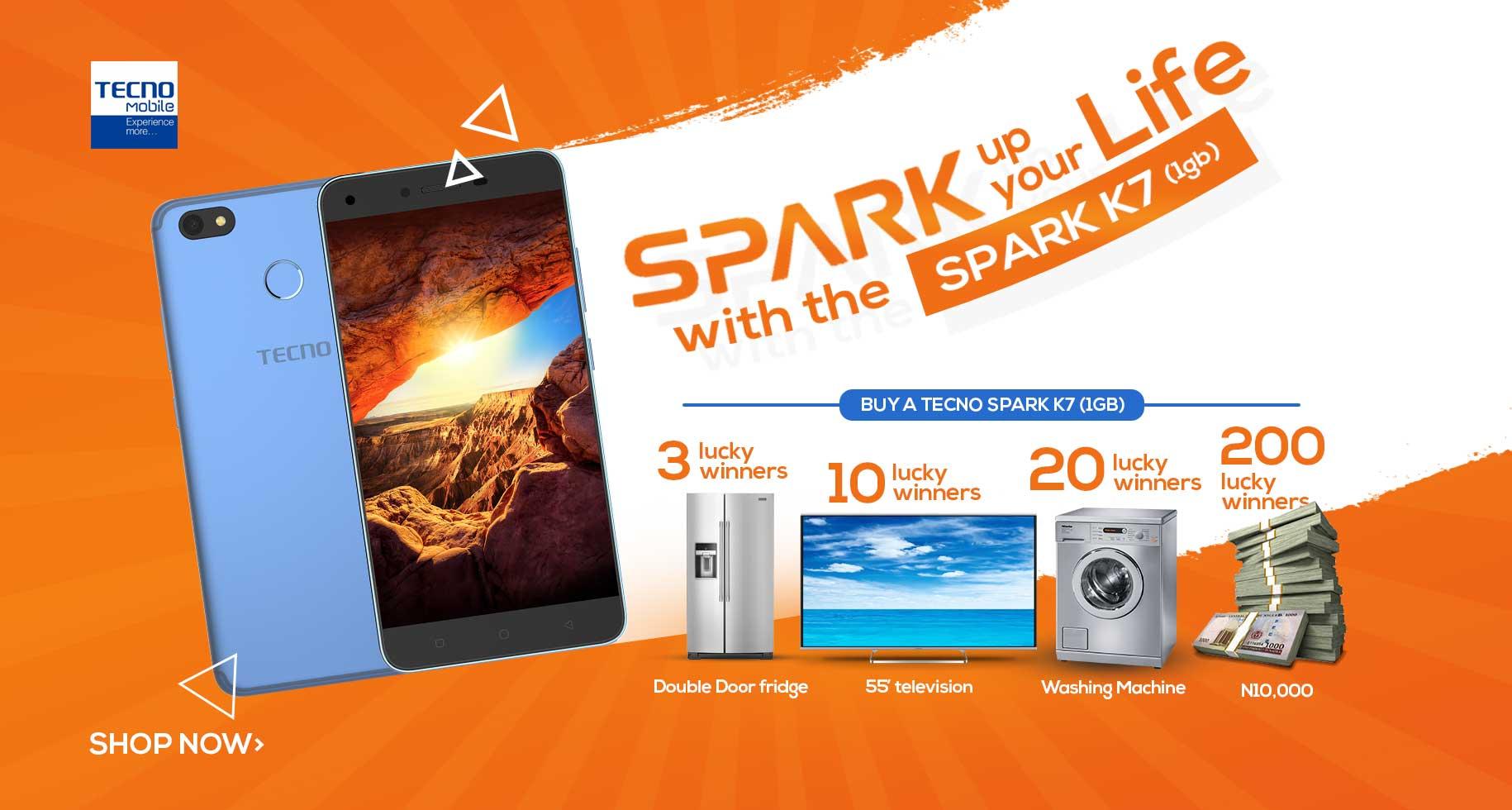 Tecno Spark k7 Give away - Pointekonline