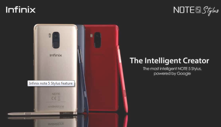 Infinix Note 5 Stylus infinix note 5 stylus Infinix Note 5 Stylus Review, Specs and Price Capture note5stylus