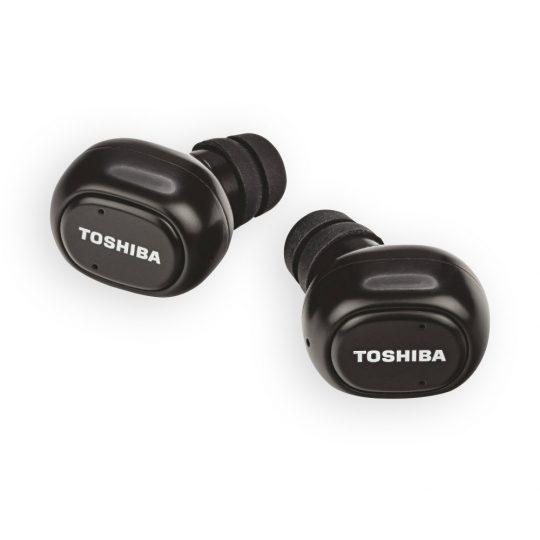 Toshiba Wireless Bluetooth Black Earbuds